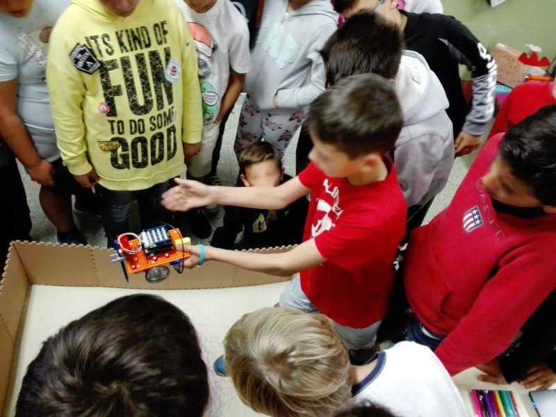 Demonstrar como funciona o robot Anprino Pintor.